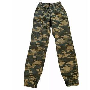 Hollister Camo Military Joggers Cargo Pants